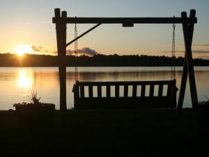 Bench swing at Samara Point Resort.