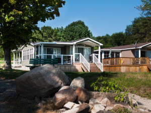 Cottages at McCreary's Beach Resort.