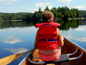 Canoeing at Pine Vista Resort.