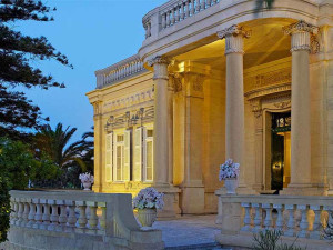 Exterior view of Corinthia Palace Hotel.