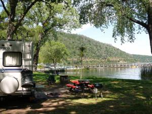RV campsite at Edgewater Resort & RV Park.