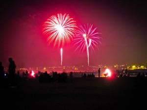 Fireworks at Coastal Vacation Rentals.