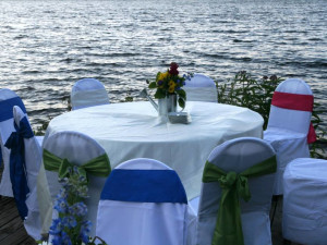 Wedding reception at Lakewoods Resort.