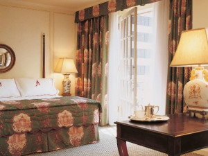 Guest room at The Adolphus.