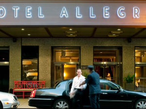 Exterior view of Hotel Allegro Chicago.