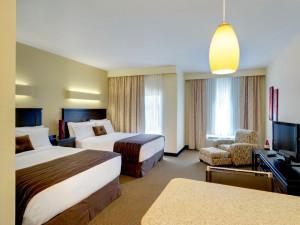 Two queen deluxe room at Berlin Grande Hotel.