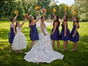 Bridal party at The Spa at Norwich Inn.