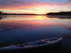 Sunset at Five Lakes Resort.