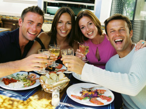 Dining with family at Myrtle Beach Vacation Rentals.