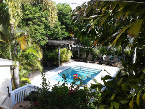 Outdoor pool at Merlin Guesthouse.