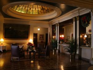 Lobby view at Hotel Savoy.