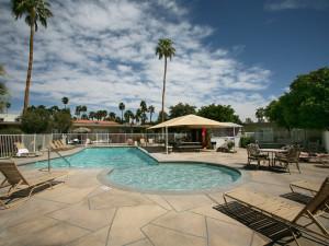 Outdoor pool at Tuscany Manor Resort.