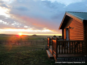 Cabin exterior at Colorado Cattle Company Ranch.