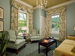 Guest room parlor room at The Otesaga Resort Hotel.