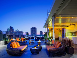Patio at Andaz San Diego.