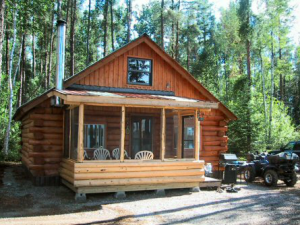 Cabin Exterior at Argyle Lake Lodge