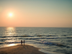 Romantic walks at Myrtle Beach Vacation Rentals.