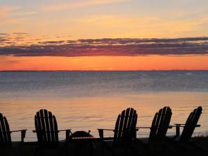 Sunset on Fish Creek at Cedar Court Inn.