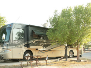 RV campground at Hill Country RV Resort & Cottage Rentals.