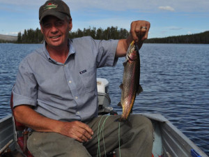 Fishing at Crazy Bear Wilderness Lodge