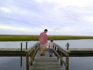 Fishing at The Villas of Amelia Island Plantation.