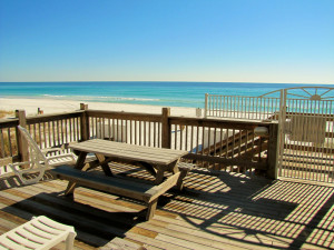 Beach at Emerald Shores Rentals.