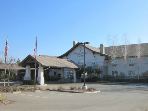 Exterior view of Rocklin Park Hotel.