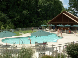 Pool at Alpine Mountain Chalets.
