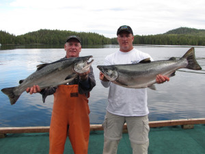 Fishing at portsman's Cove Lodge.