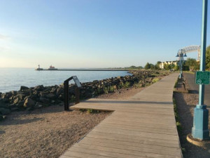 Boardwalk at Hampton Inn Duluth.