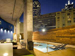 Outdoor pool at Aloft Dallas Downtown.