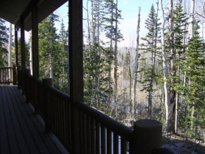 Deck view at Lori's Luxury Rentals.