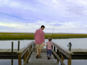Fishing at Omni Amelia Island Plantation.
