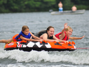 Water activities at White Birch Village Resort.