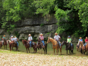 Horseback riding at Bucks and Spurs Guest Ranch.