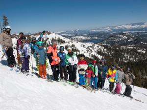 Ski lessons at Sugar Bowl Resort.