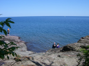 Lake Superior near Eagle Ridge at Lutsen Mountains.