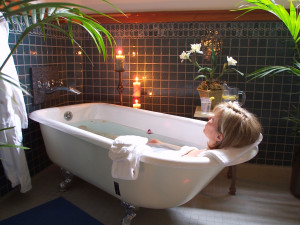 Spa bath at Bonneville Hot Springs Resort & Spa.