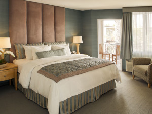 Guest room at The Belamar, a Larkspur Hotel.