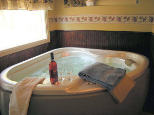 Private Hot Tub at Brookside Cabins