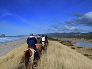 Horseback riding near Inn at Cape Kiwanda.