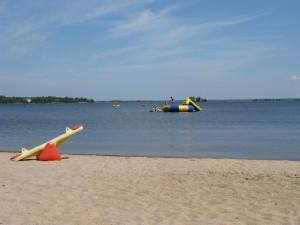Beach at Kabetogama Lake Association.