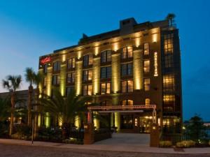 Exterior view of Bohemian Hotel Savannah Riverfront.