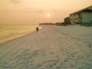 The beach Sandpiper Cove.