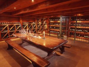 Wine room at Elmhirst's Resort.