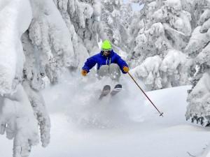Skiing near Attitash Mountain Village Resort.