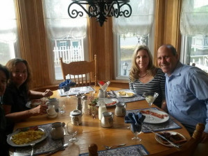 Family dining at Albergo Allegria.
