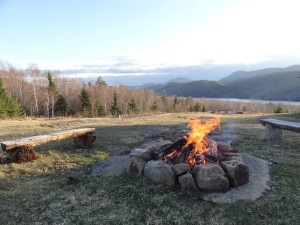 Fire pit at Garnet Hill Lodge.