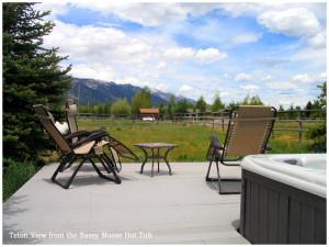 Patio view at The Sassy Moose Inn.