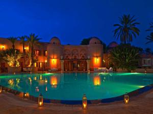 Outdoor pool at Palais Mehdi.